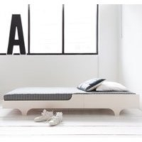 120 x 200 Teen Bed in Whitewash Finish