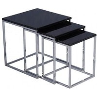 Charisma Black High Gloss Nest of Tables Black