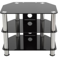 AVF SDC800CM TV Stand – Black & Chrome, Black