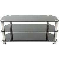 AVF SDC1000 TV Stand – Black & Chrome, Black