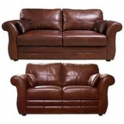 Vantage Italian Leather 3 Seater + 2 Seater Sofa Set (Buy And Save!)