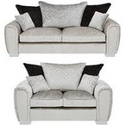Spark Fabric 3 Seater + 2 Seater Scatter Back Sofa Set (Buy And Save!)