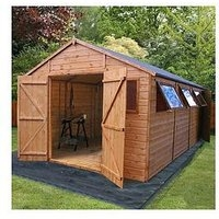 Mercia 20 X 10Ft Premium Tongue &Amp; Groove Apex Workshop With 6 Windows, Double Door, T&Amp;G Roof And Floor – Assembly Included