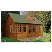 Forest 5.5 X 4M Cheviot Log Cabin  – Cheviot Log Cabin 5.5 X 4.0M With Installation