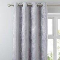 5A Fifth Avenue Fulton Grey Eyelet Curtains Grey