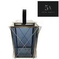 5A Fifth Avenue Large Smoked Glass Lantern Grey