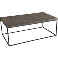 Clipper Rectangular Coffee Table, Black Metal